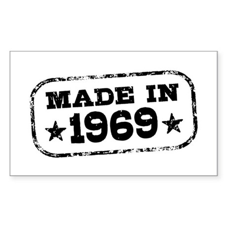 Made In 1969 Sticker (Rectangle)