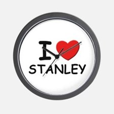 I love Stanley Wall Clock