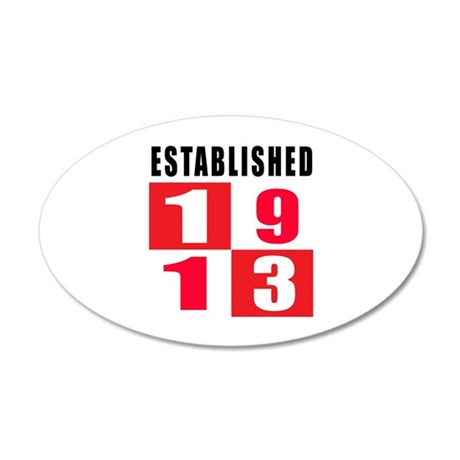 Established 1913 35x21 Oval Wall Decal