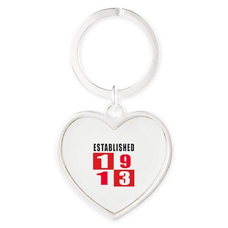 Established 1913 Heart Keychain