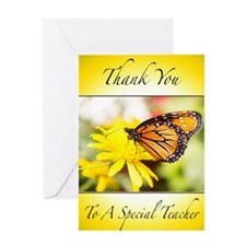 Thank You Teacher Butterfly Greeting Card