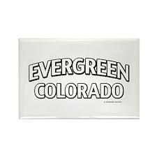 Evergreen Colorado Rectangle Magnet