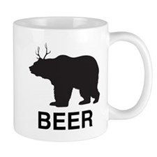 Beer. Bear with Deer Antlers Mug