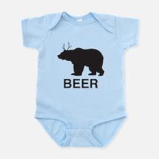 Beer. Bear with Deer Antlers Body Suit