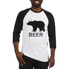 Beer. Bear with Deer Antlers Baseball Jersey