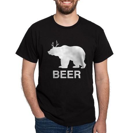 Beer Bear with Deer Antlers