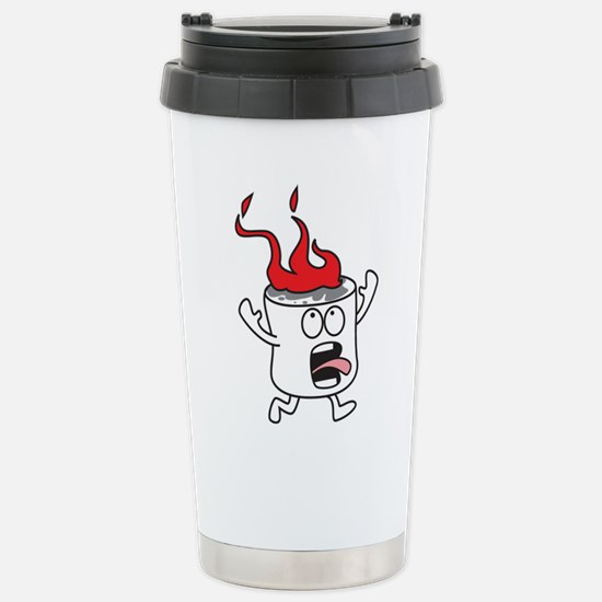 Flaming Marshmallow Travel Mug