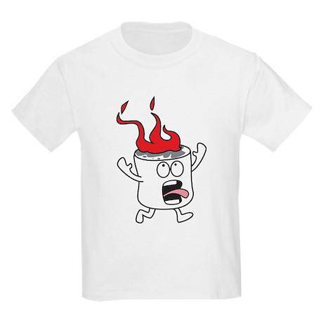 flaming marshmallow kids light t shirt flaming marshmallow