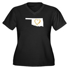 Oklahoma Heart - Orange Plus Size T-Shirt