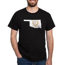 Oklahoma Heart - Orange T-Shirt