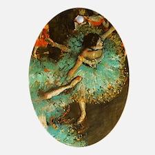 Degas Dancer Green Ballet Impressionist Ornament (