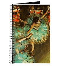 Degas Dancer Green Ballet Impressionist Journal