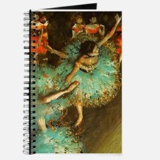 Degas Dancer Green Ballet Impressionist Journal