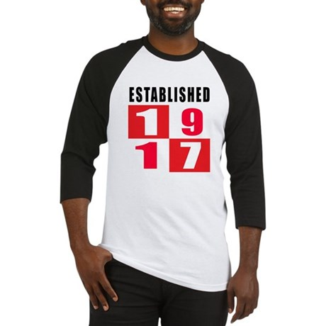 Established 1917 Baseball Jersey