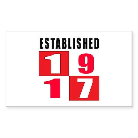 Established 1917 Sticker (Rectangle)