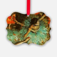 Degas Dancer Green Ballet Impressionist Ornament