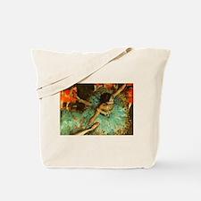 Degas Dancer Green Ballet Impressionist Tote Bag