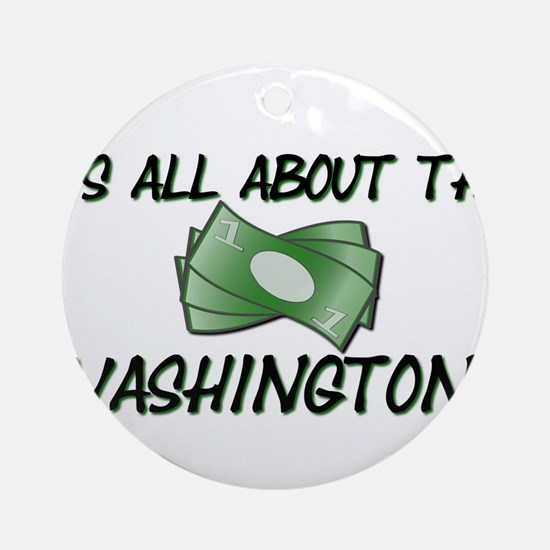 Washington Ornament (Round)