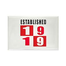 Established 1919 Rectangle Magnet (10 pack)