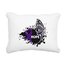 Pancreatitis Hope Butterfly Rectangular Canvas Pil