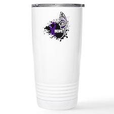 Pancreatitis Hope Butterfly Travel Mug