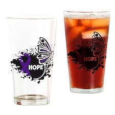 Pancreatitis Hope Butterfly Drinking Glass