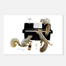 Squirrels at the Piano Postcards (Package of 8)