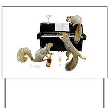 Squirrels at the Piano Yard Sign