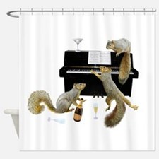 Squirrels at the Piano Shower Curtain