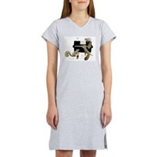 Squirrels at the Piano Women's Nightshirt