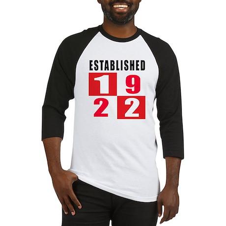 Established 1922 Baseball Jersey