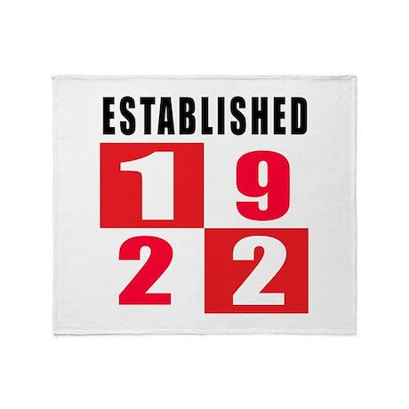 Established 1922 Throw Blanket