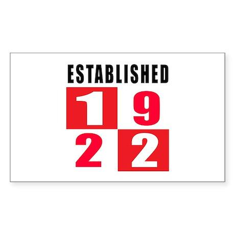 Established 1922 Sticker (Rectangle)
