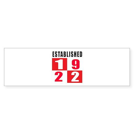Established 1922 Sticker (Bumper)