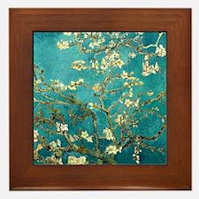 Van Gogh Almond Blossoms Tree Framed Tile