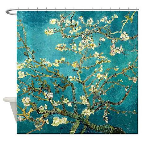 Van Gogh Almond Blossoms Tree Shower Curtain