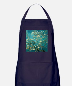 Van Gogh Almond Blossoms Tree Apron (dark)