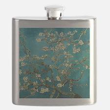 Van Gogh Almond Blossoms Tree Flask