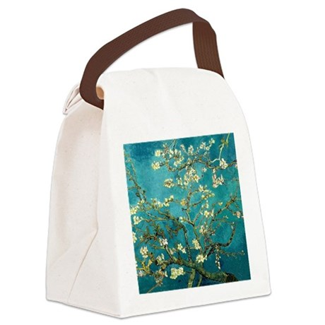 Van Gogh Almond Blossoms Tree Canvas Lunch Bag