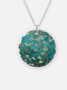 Van Gogh Almond Blossoms Tree Necklace