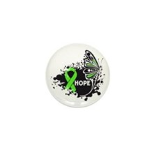Lyme Disease Butterfly Mini Button (10 pack)