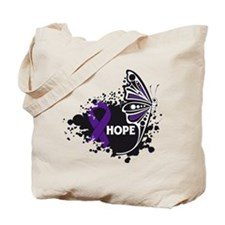 Lupus Hope Butterfly Tote Bag