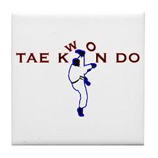 TKD Kicks Tile Coaster