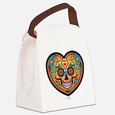 I Love EL Dia DE LOS MUERTOS Canvas Lunch Bag