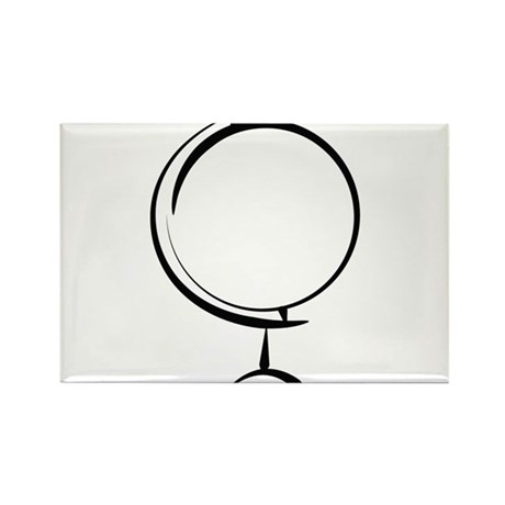 Globe Rectangle Magnet