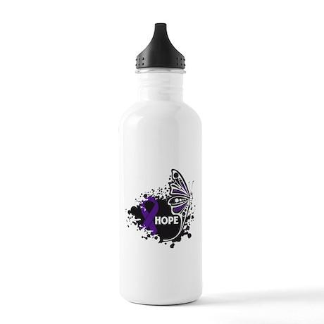 Epilepsy Hope Butterfly Stainless Water Bottle 1.0