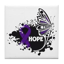 Epilepsy Hope Butterfly Tile Coaster