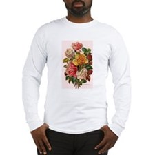 Victorian Roses Bouquet Vinta Long Sleeve T-Shirt