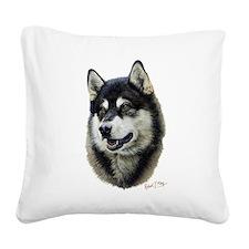 Alaskan Malamute Square Canvas Pillow