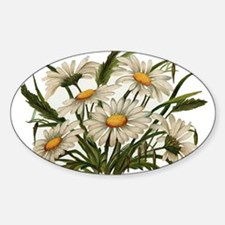 Daisies Victorian Vintage Che Oval Decal